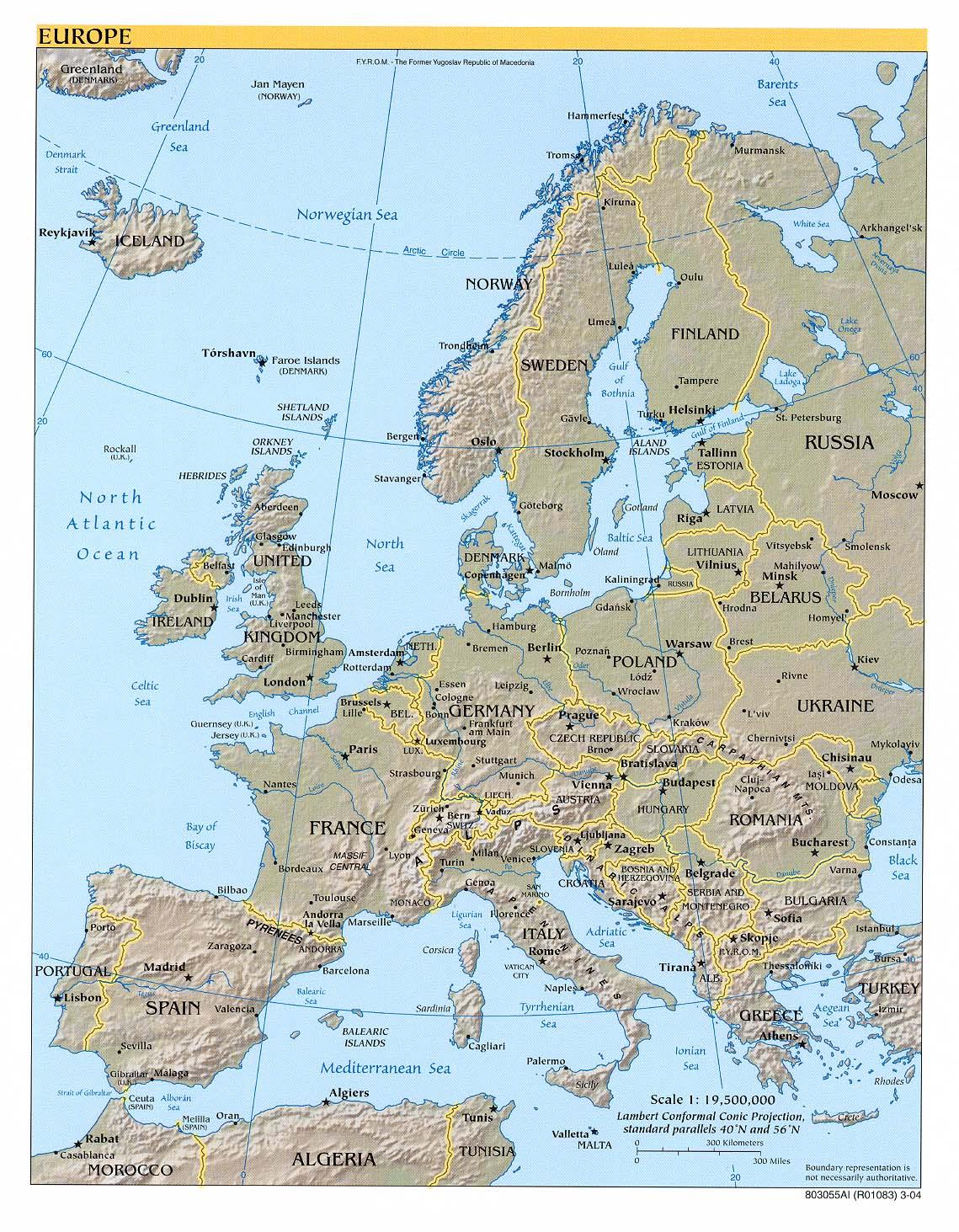 Cartina Europa In Inglese.Cartina Europa