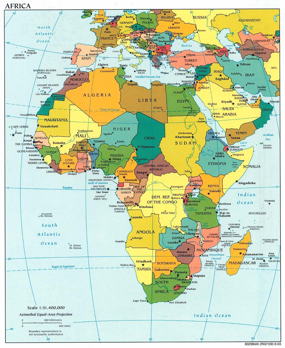 Cartina Africa In Italiano.Cartina Africa